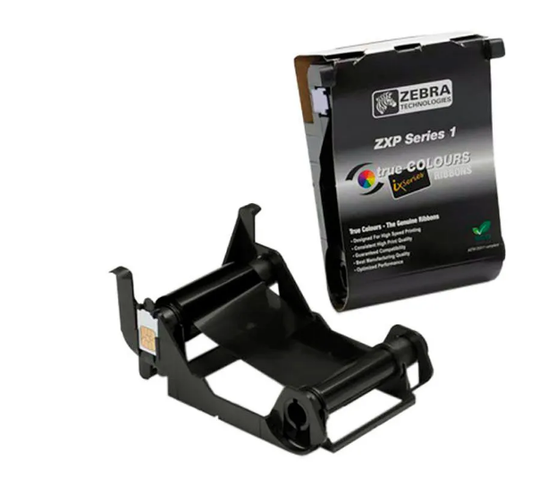 Ribbon Zebra Preto 1000 Imagens p/ Impressoras ZXP1