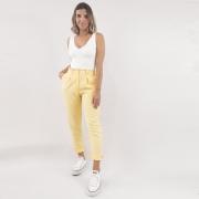 Calça Alfaiataria Color - Amarelo