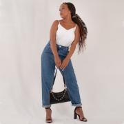 Calça Jeans Mom - Escura
