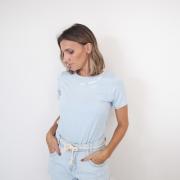 T-Shirt Viscolycra Gola U - Love - Azul Claro