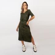 Vestido Minimal Mídi - Chumbo