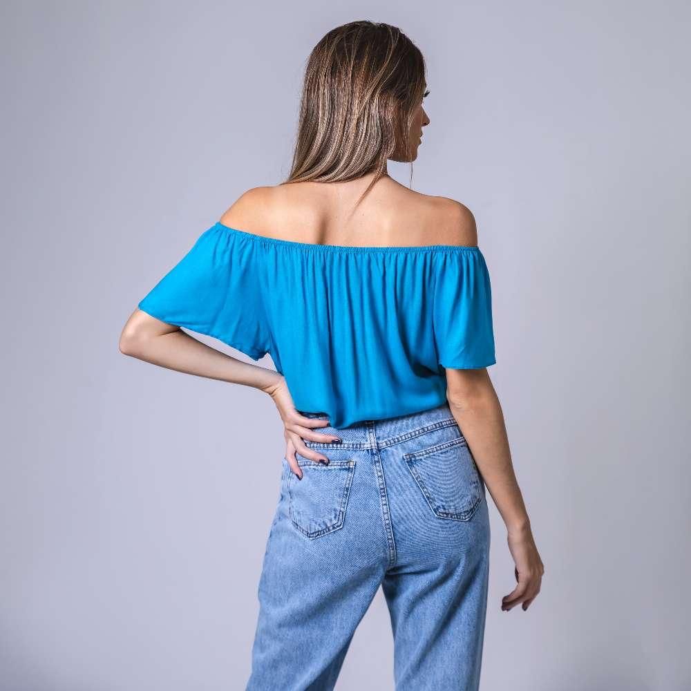 Blusa Ciganinha - Azul