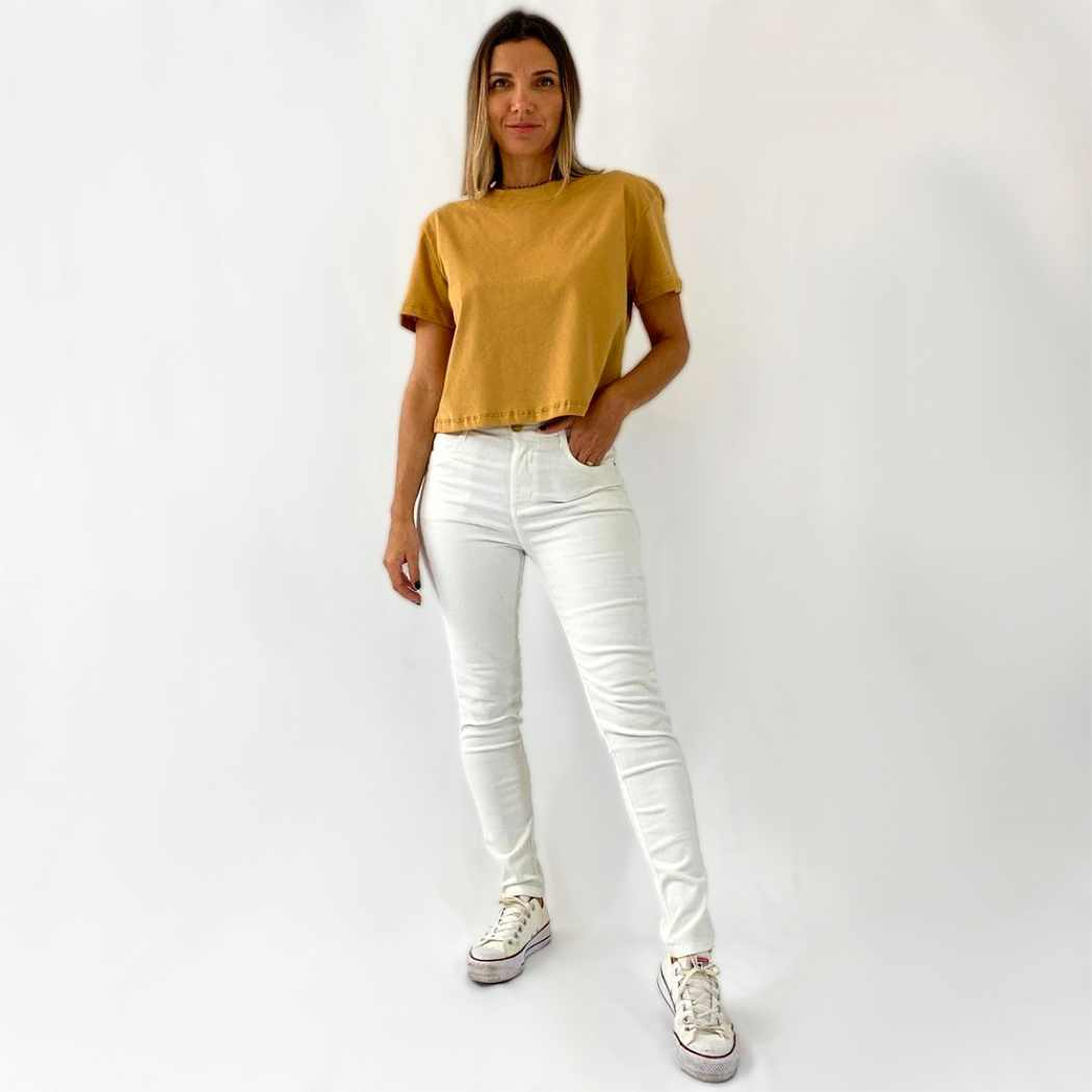 Blusa Cropped - Caramelo