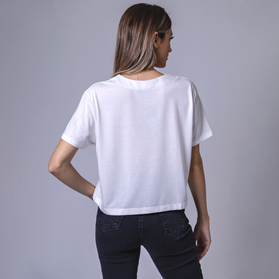 Blusa Cropped - Off