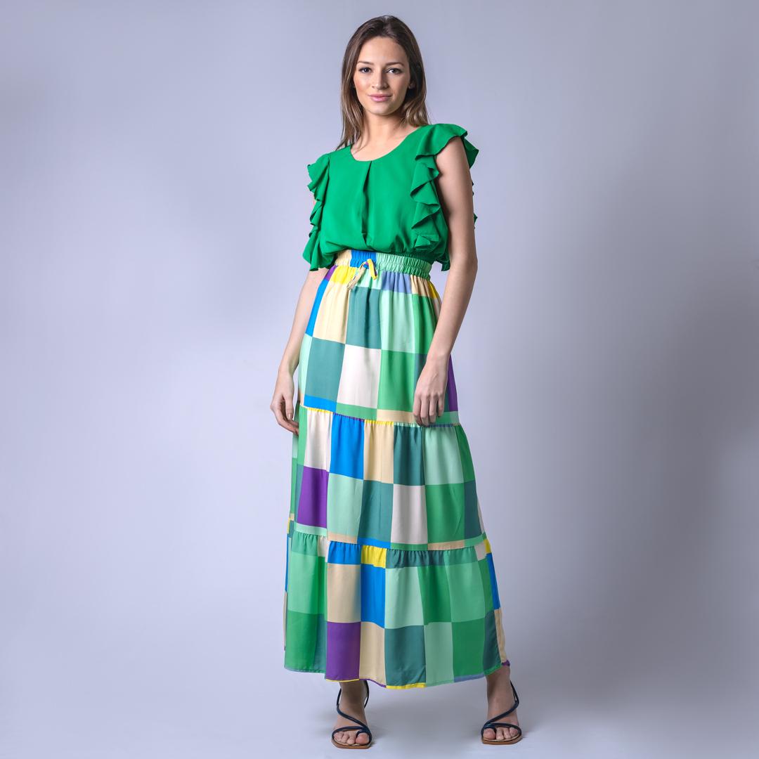 Blusa Tecido Lastex Lisa - Verde