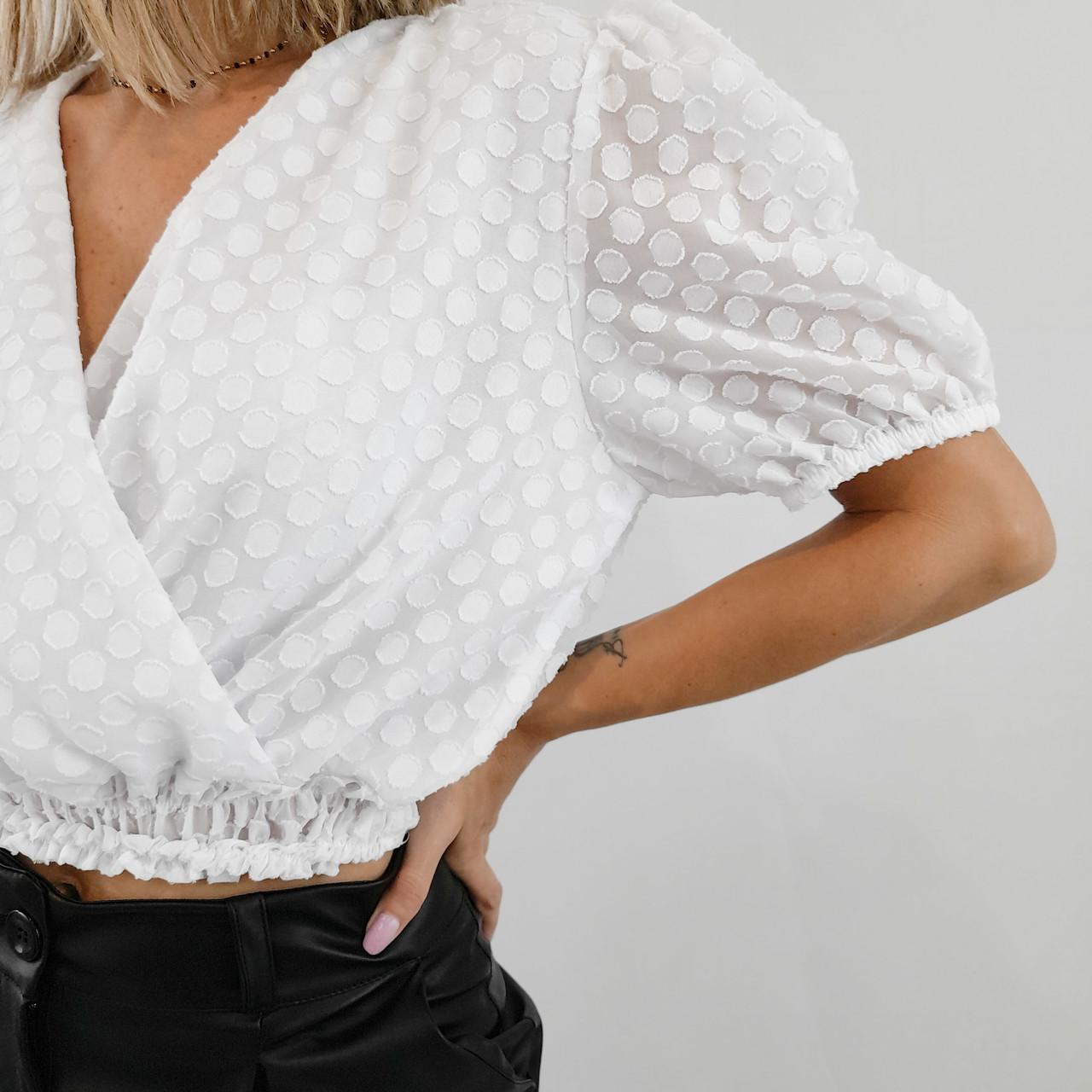 Blusa Transpassada - Branca Póa