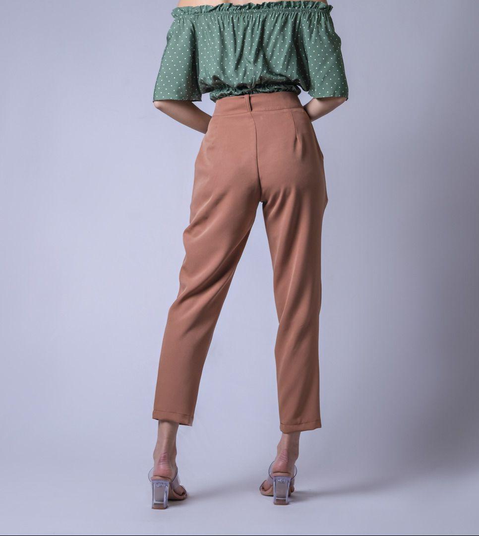 Calça Alfaiataria Color - Caramelo