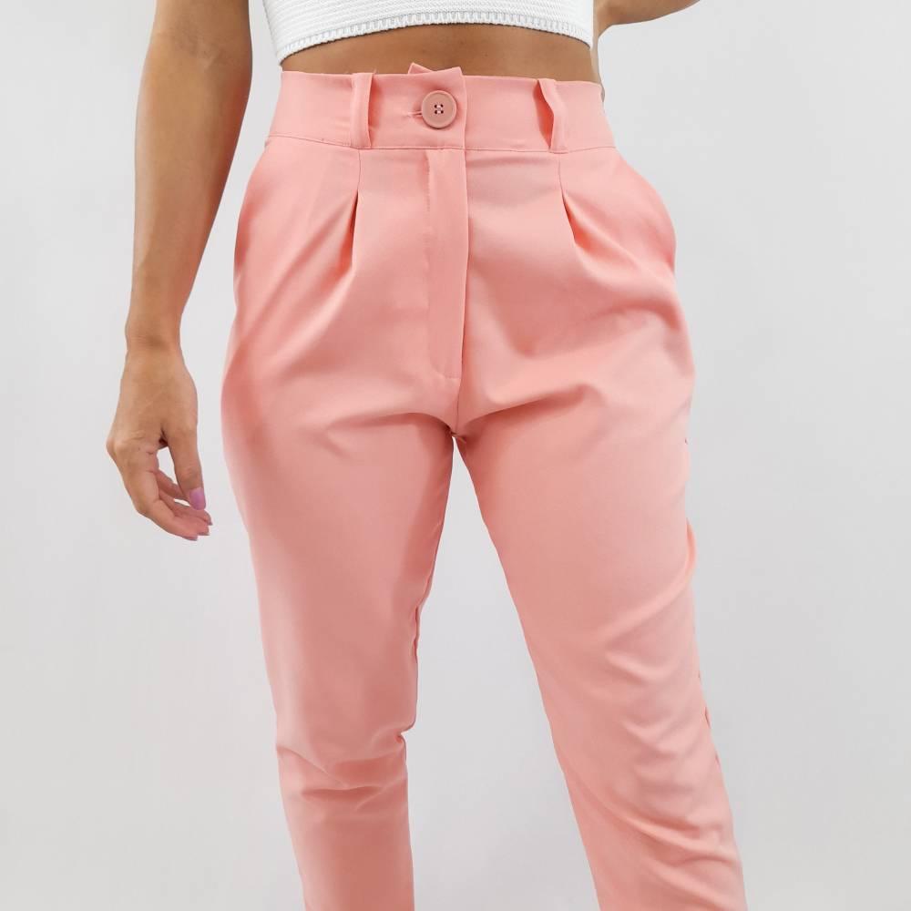 Calça Alfaiataria Color - Rosa Claro
