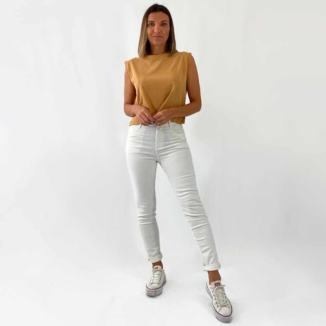 Calça Jeans Classic - Off