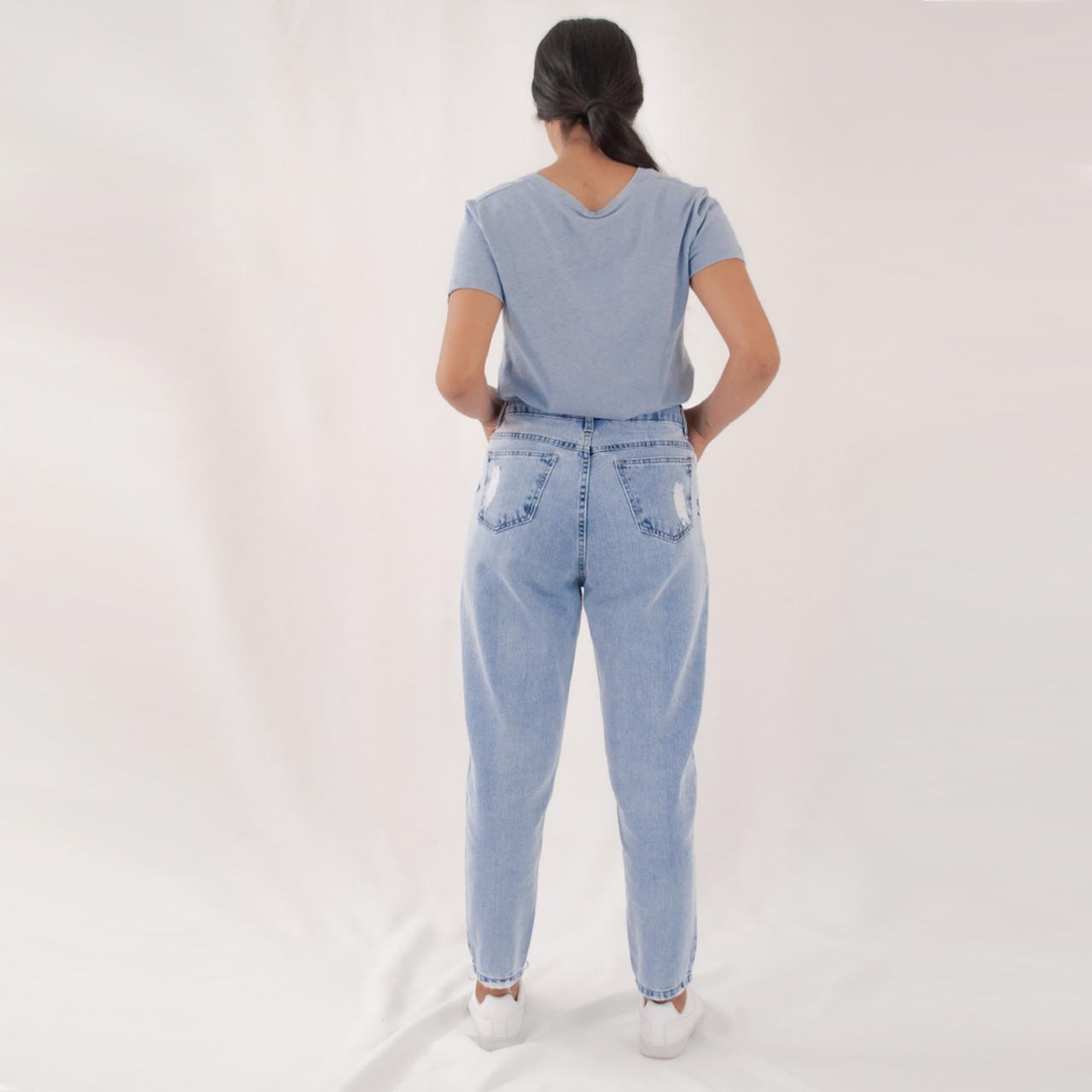 Calça Jeans Mom Destroyer