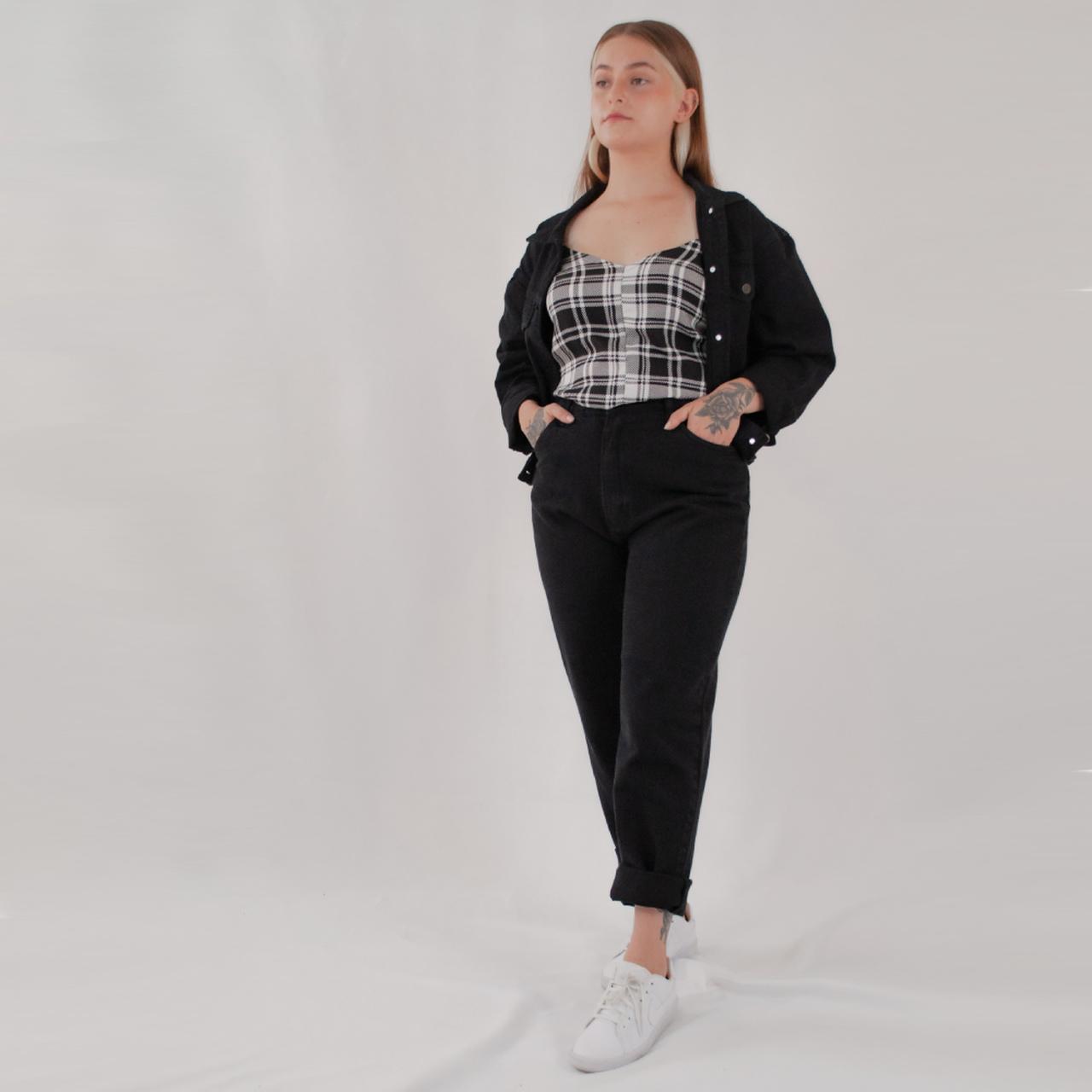 Calça Jeans Mom - Preta