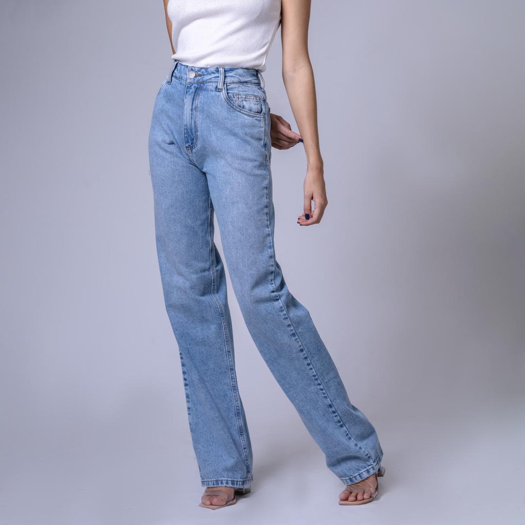 Calça Jeans Wide Leg - Claro