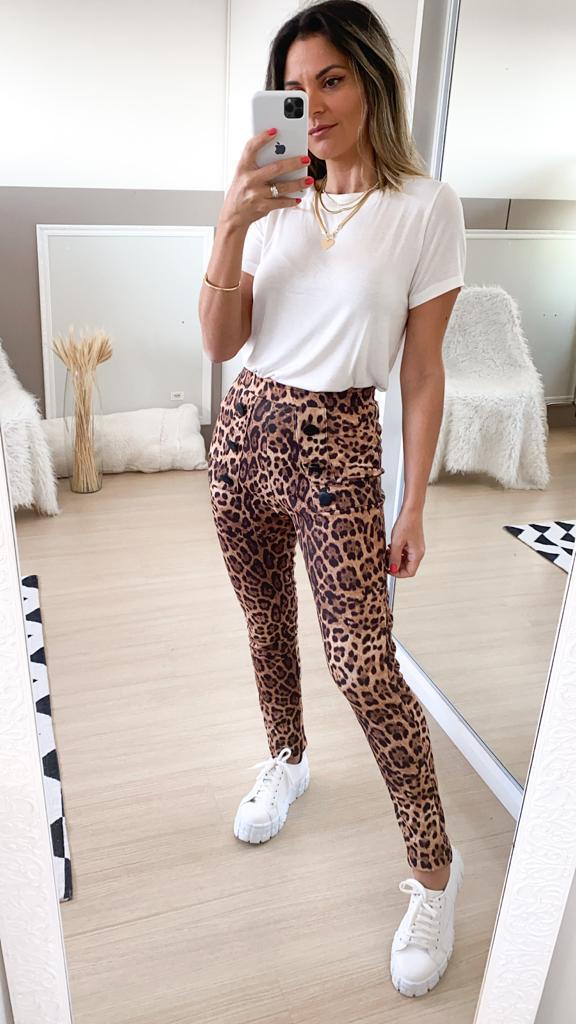 Calça Skinny Animal Print