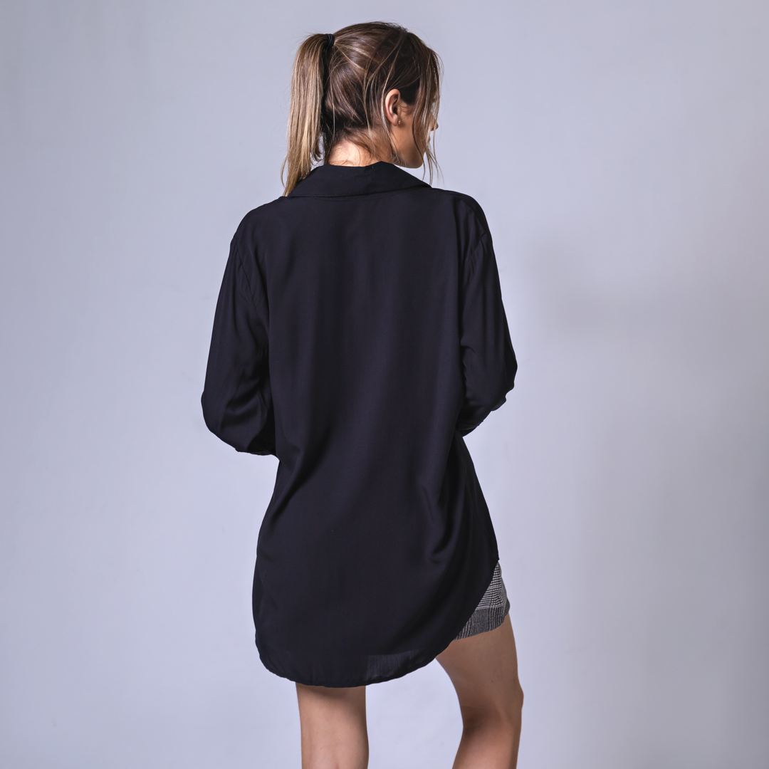 Camisa Alongada - Preta