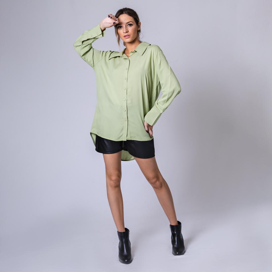 Camisa Alongada - Verde