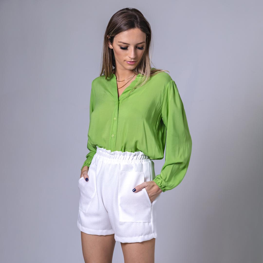 Camisa Sem Lapela Laila - Verde