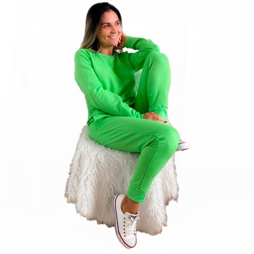 Conjunto Moleton com Ribana - Verde