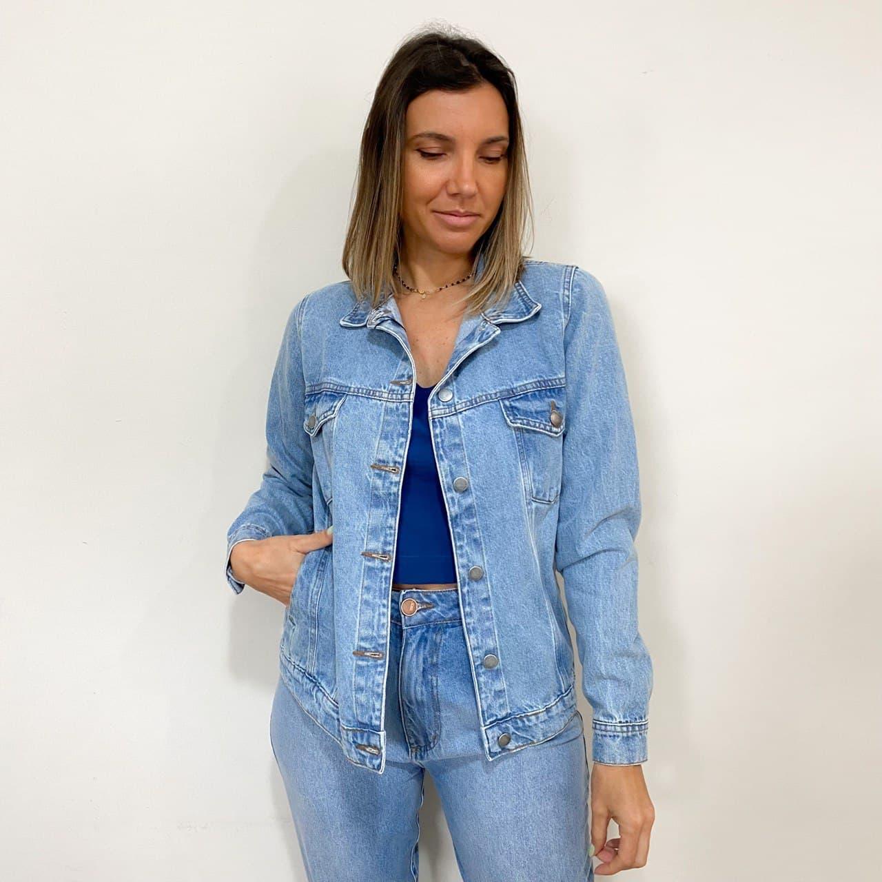 Jaqueta Jeans Classic - Azul Claro