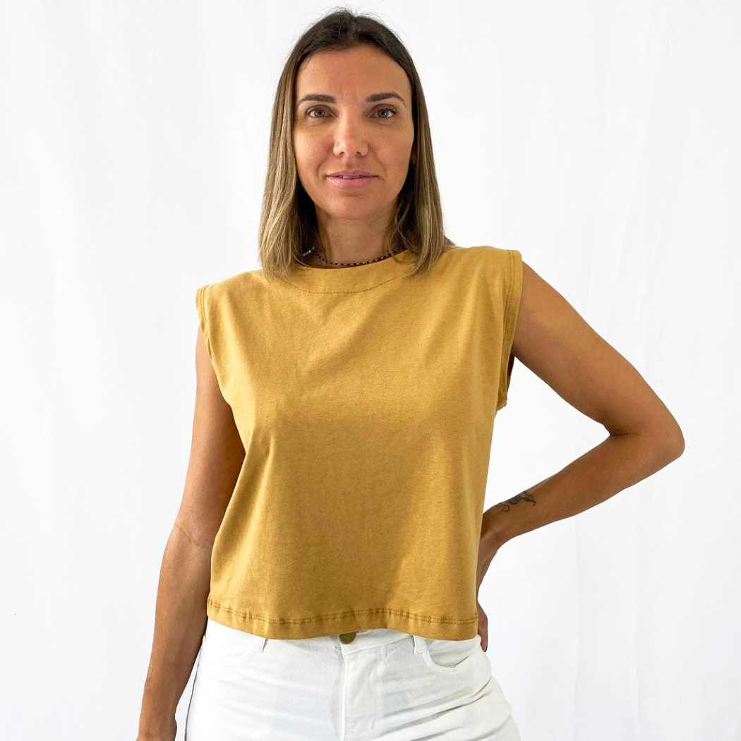 Regata Cropped - Caramelo
