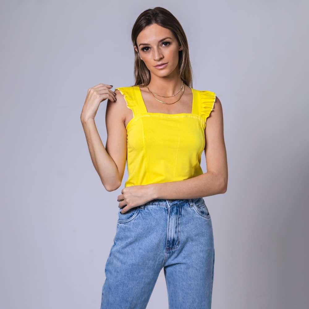 Regata FruFru Viscolycra - Amarelo