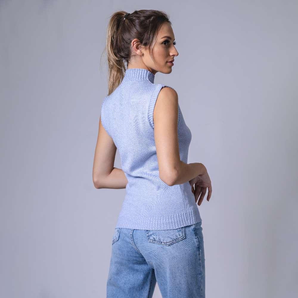 Regata Modal Gola Alta - Azul Claro