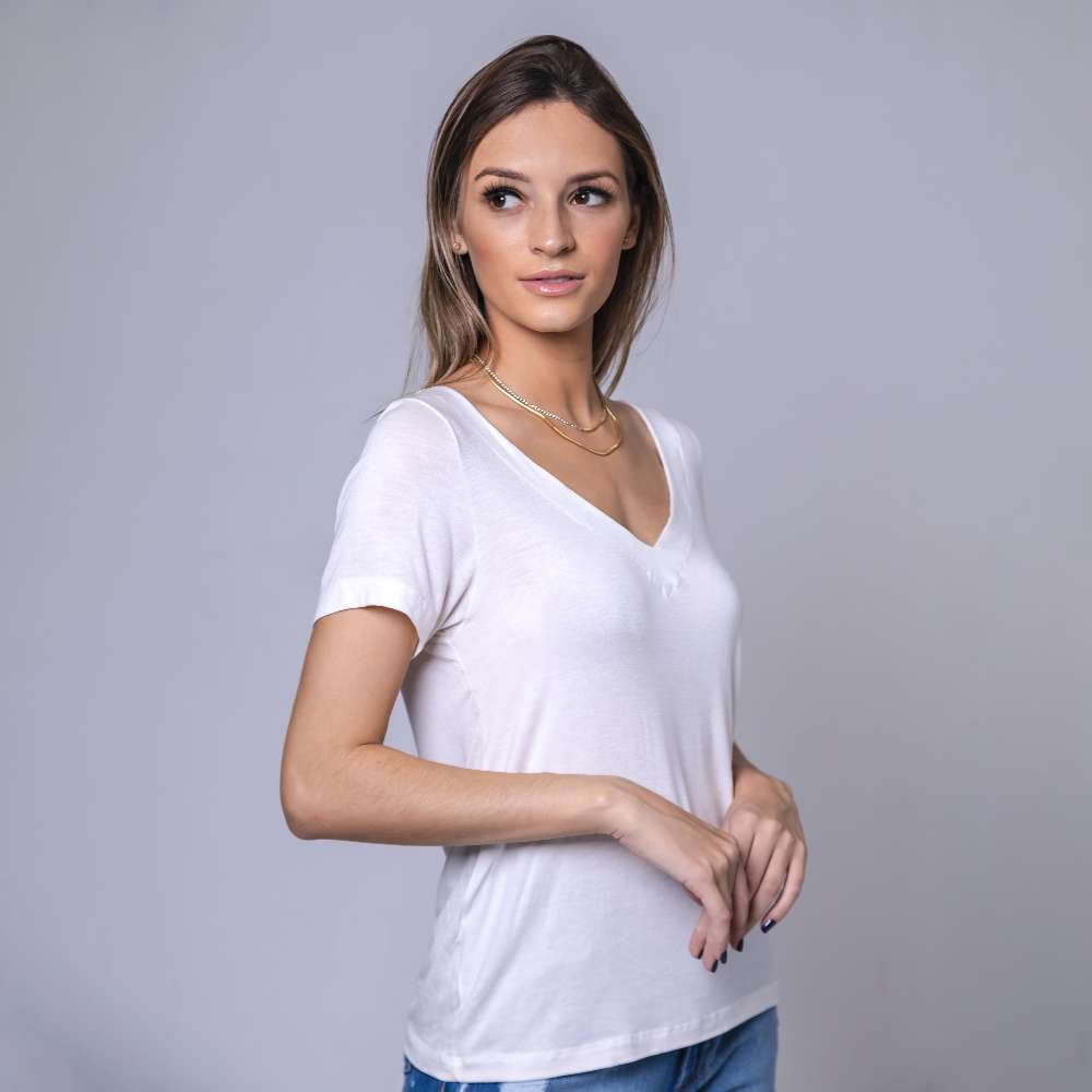 T-Shirt Contra Gola V - Off