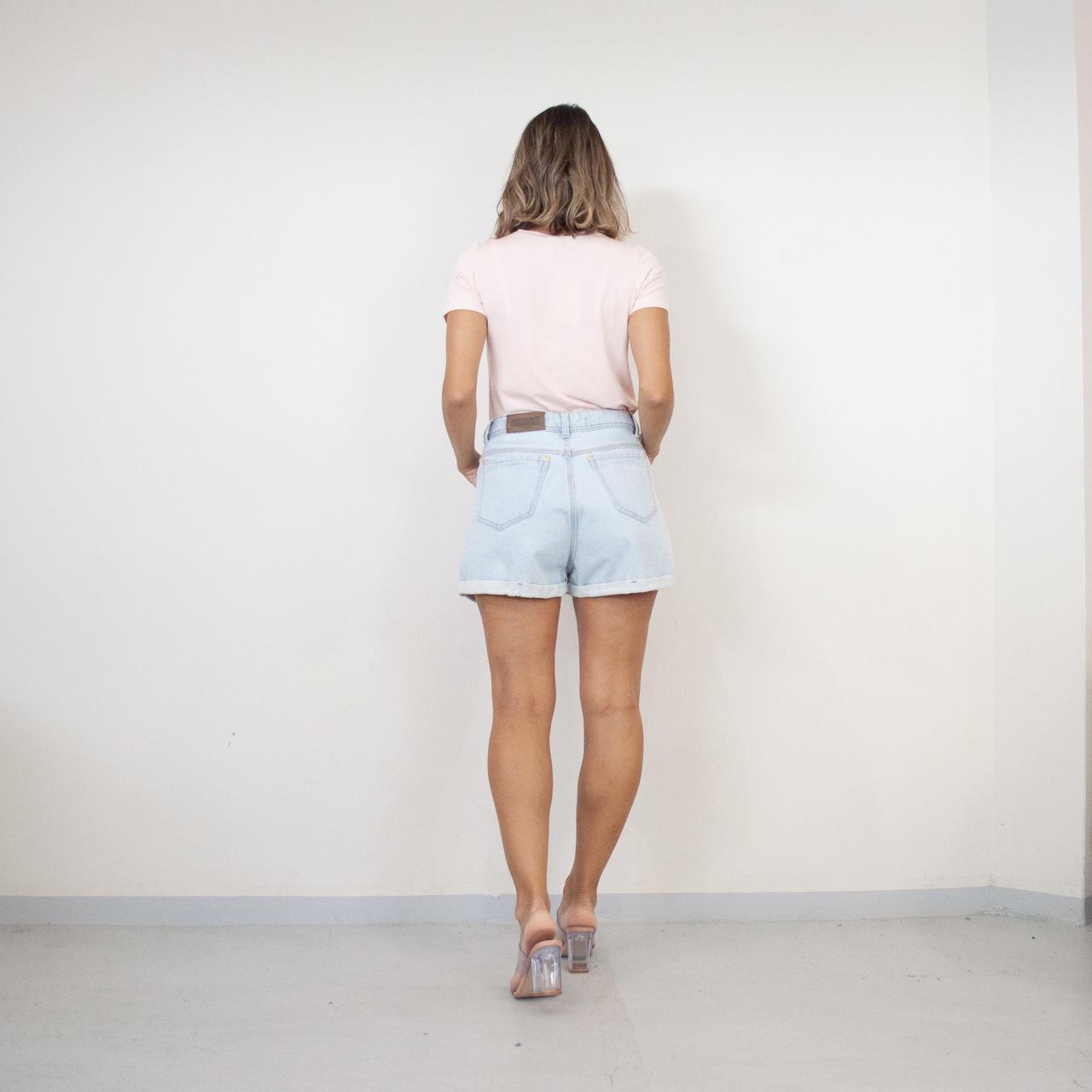 T-Shirt Viscolycra Gola U - Moment - Rosa Claro
