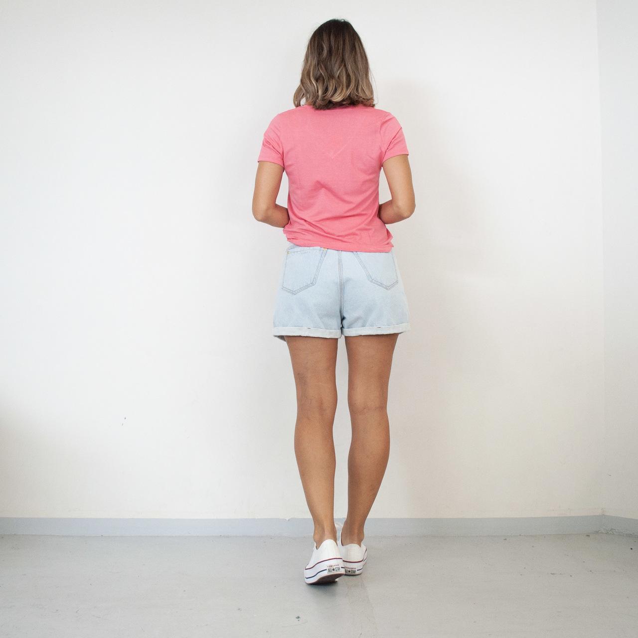 T-Shirt Viscolycra Gola V - All We Need - Rosê