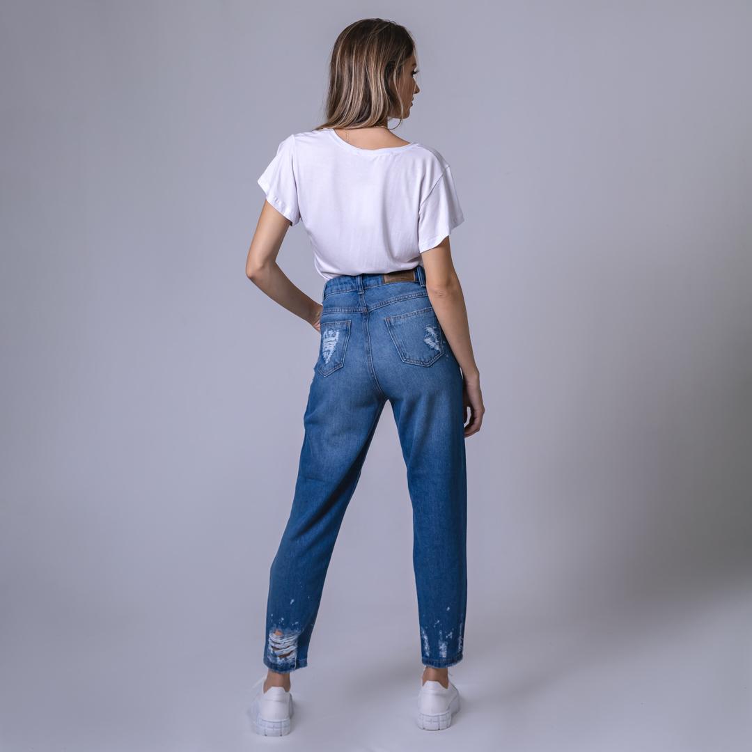 T-Shirt Viscolycra Gola V - Make Positiv - Branca