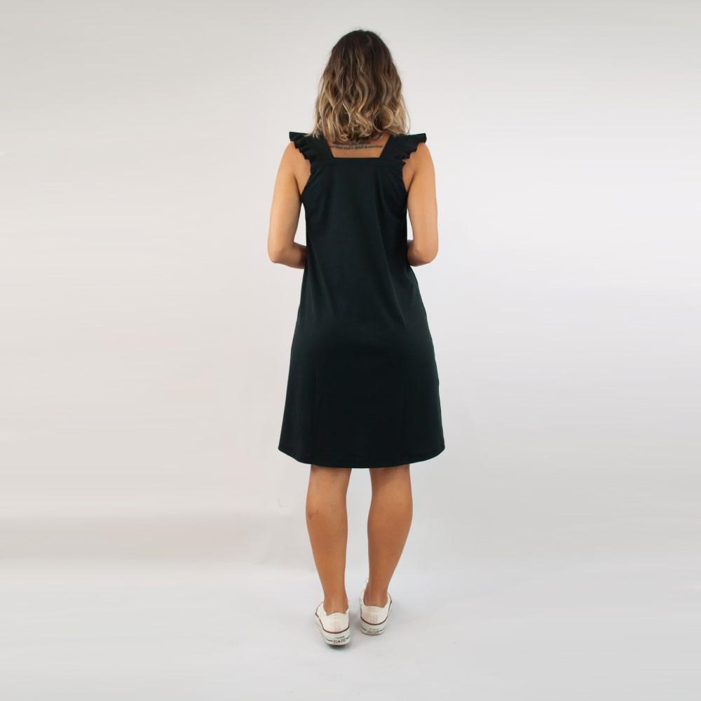 Vestido Canelado FruFru - Preto