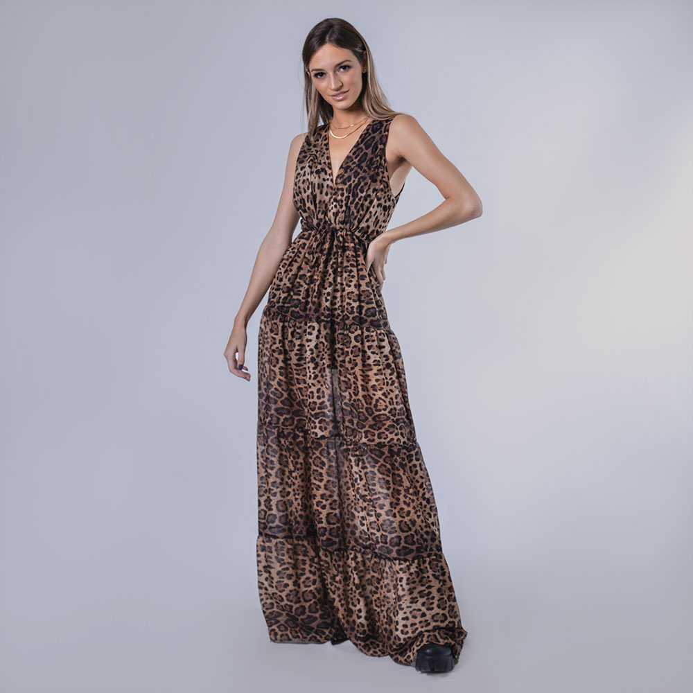 Vestido Longo - Animal Print