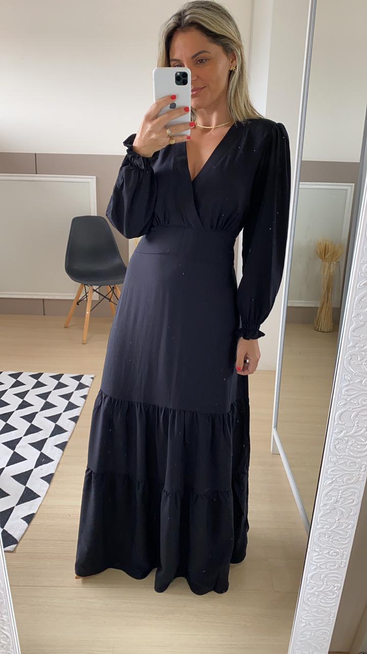 Vestido longo - Preto