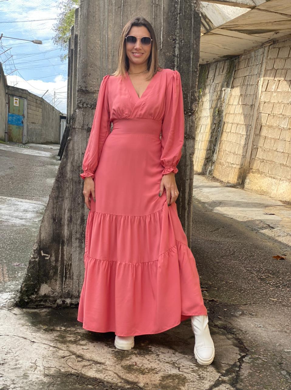 Vestido longo - Rosê