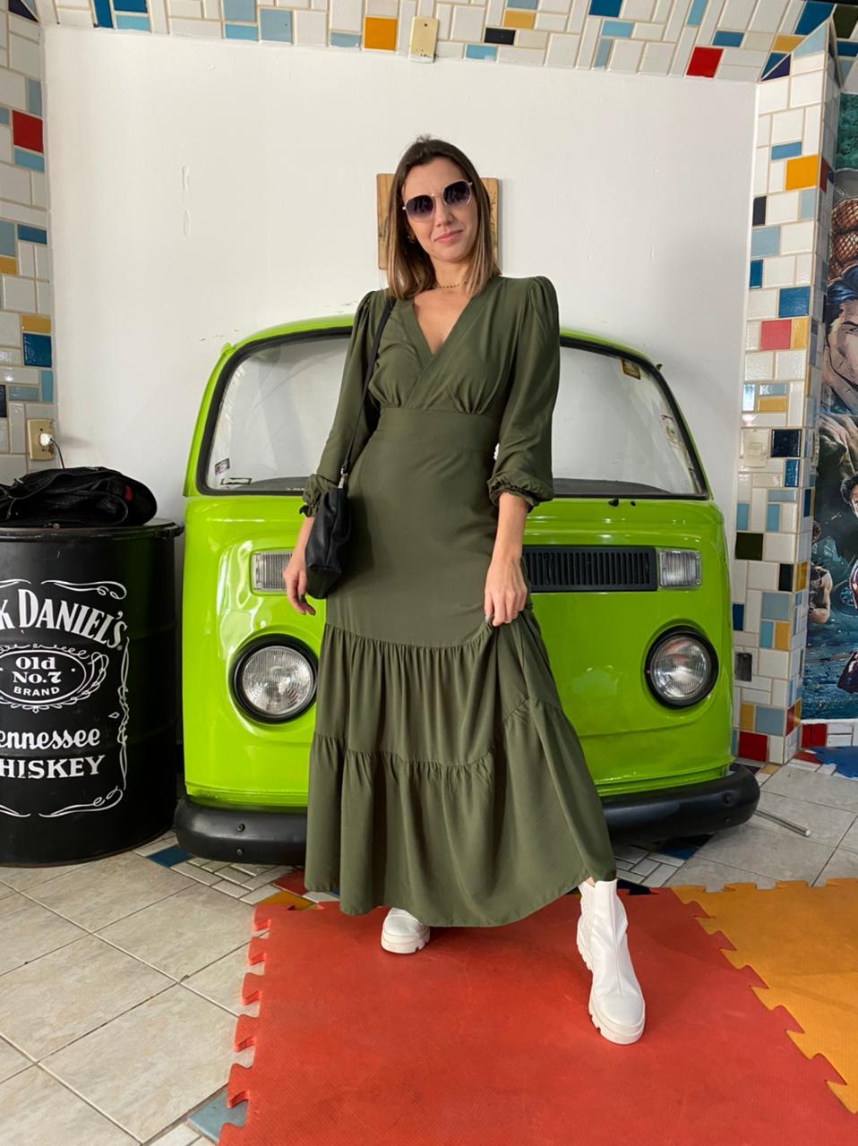 Vestido longo - Verde