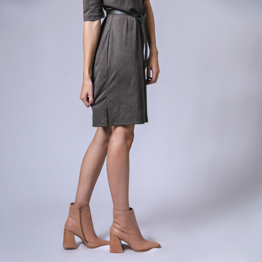 Vestido Minimal Curto - Chumbo