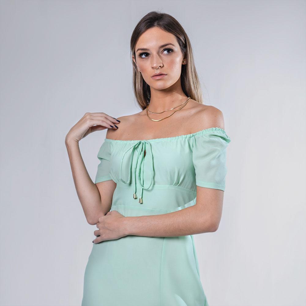Vestido Sally - Verde Água