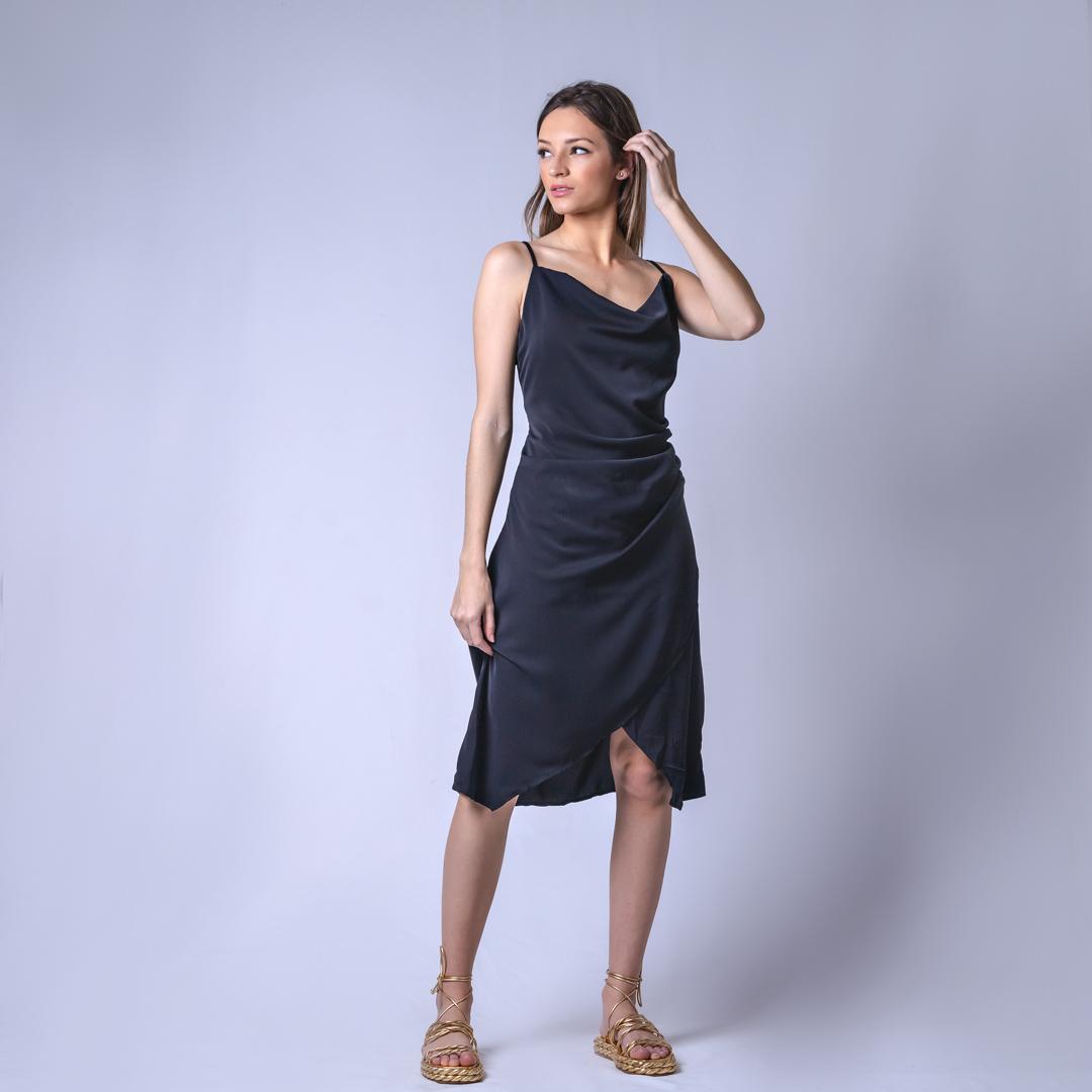 Vestido Tecido Sleep - Preto