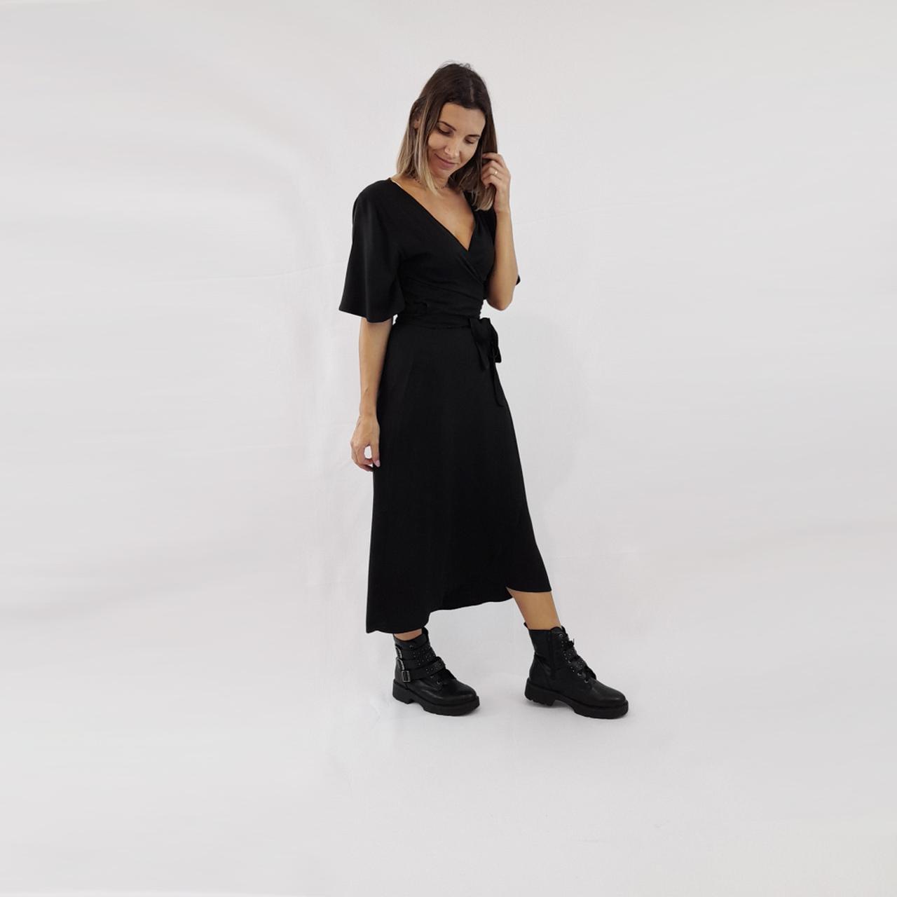 Vestido Transpassado Juli - Preto