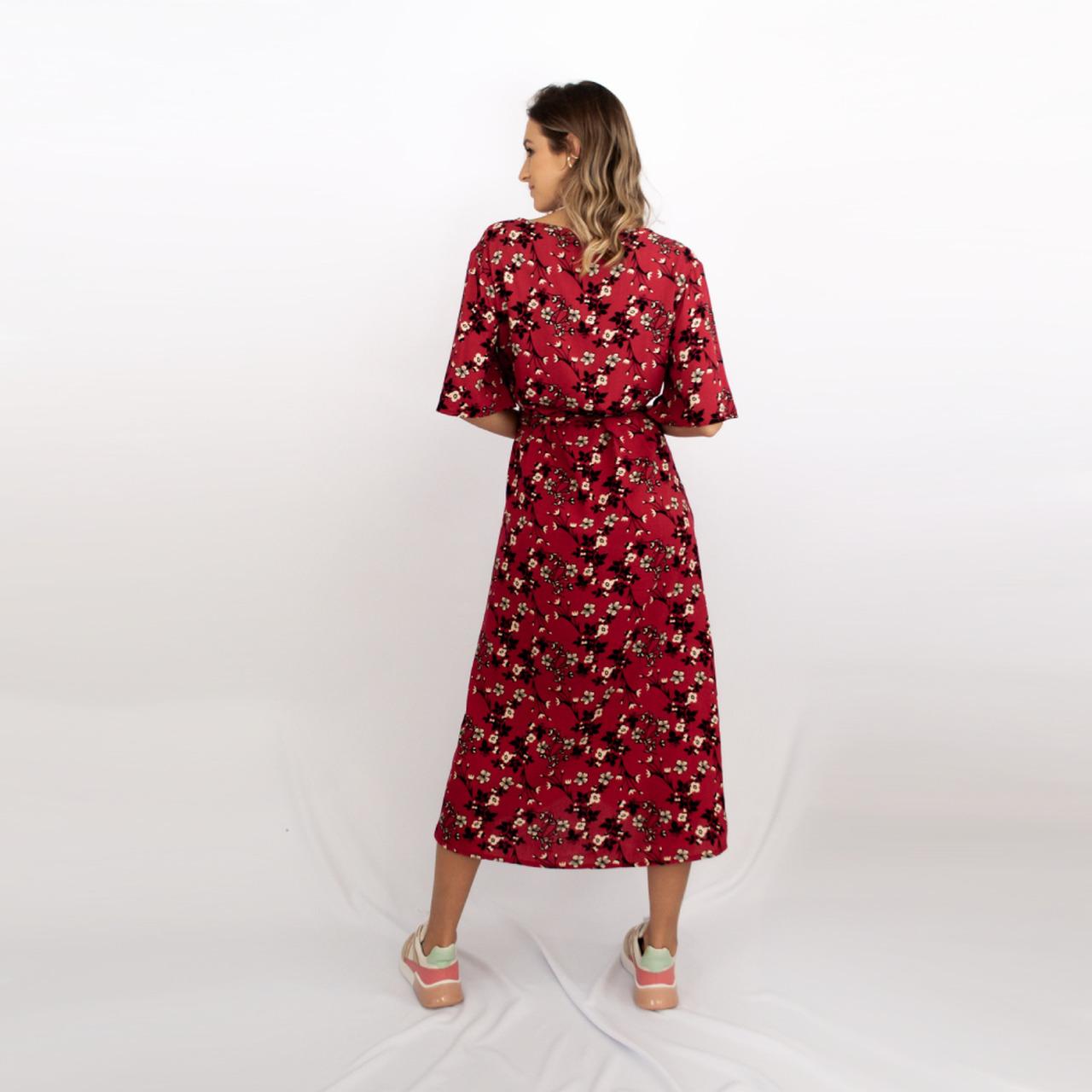 Vestido Transpassado Juli - Vermelho