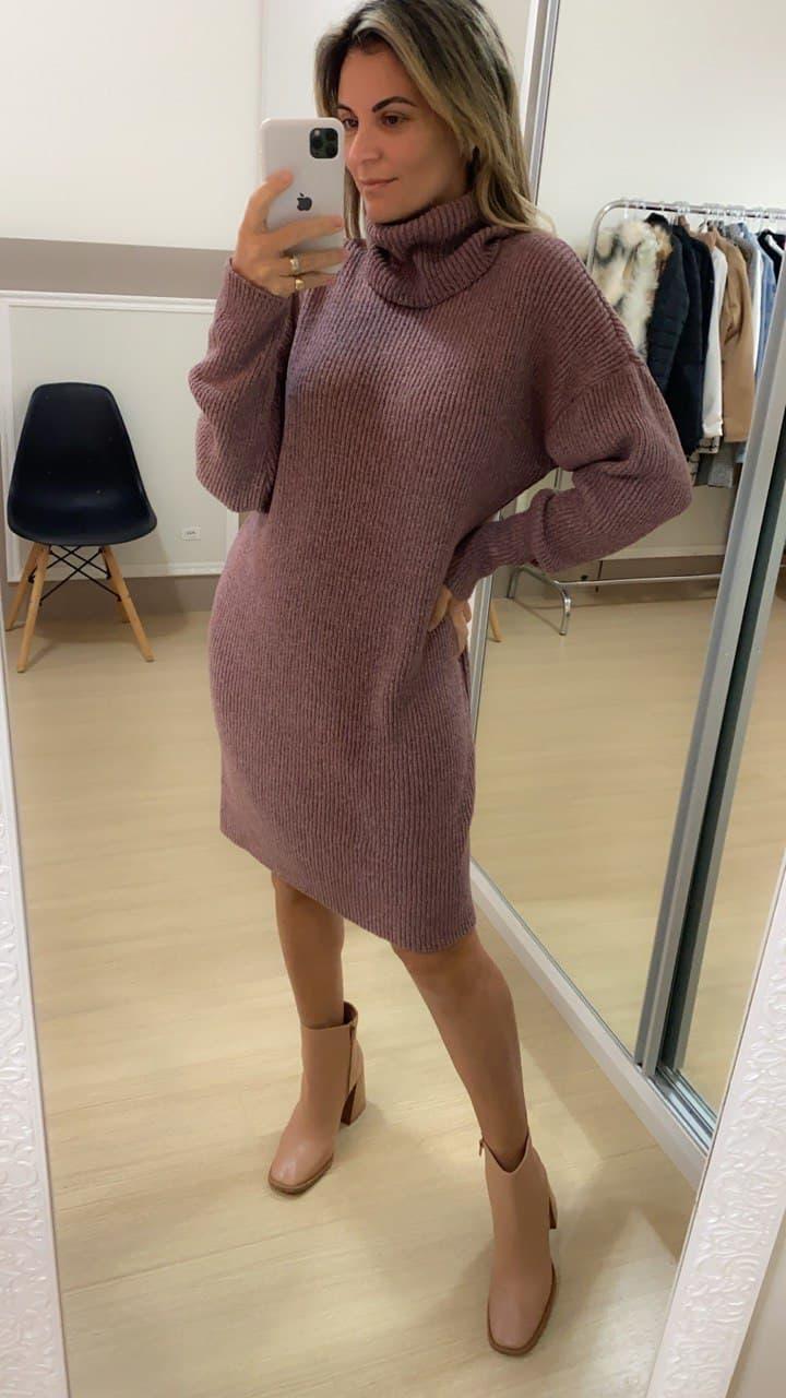 Vestido Tricot - Rosê