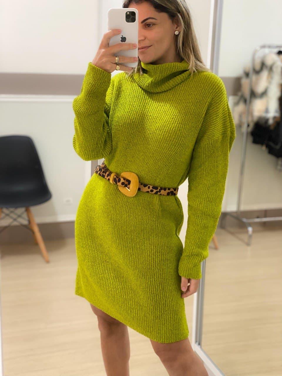 Vestido Tricot - Verde