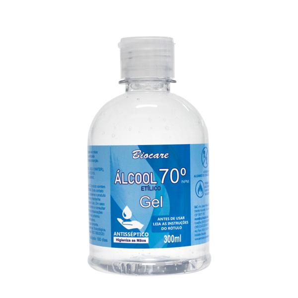 Álcool em Gel 70º Antisséptico Biocare 300ml