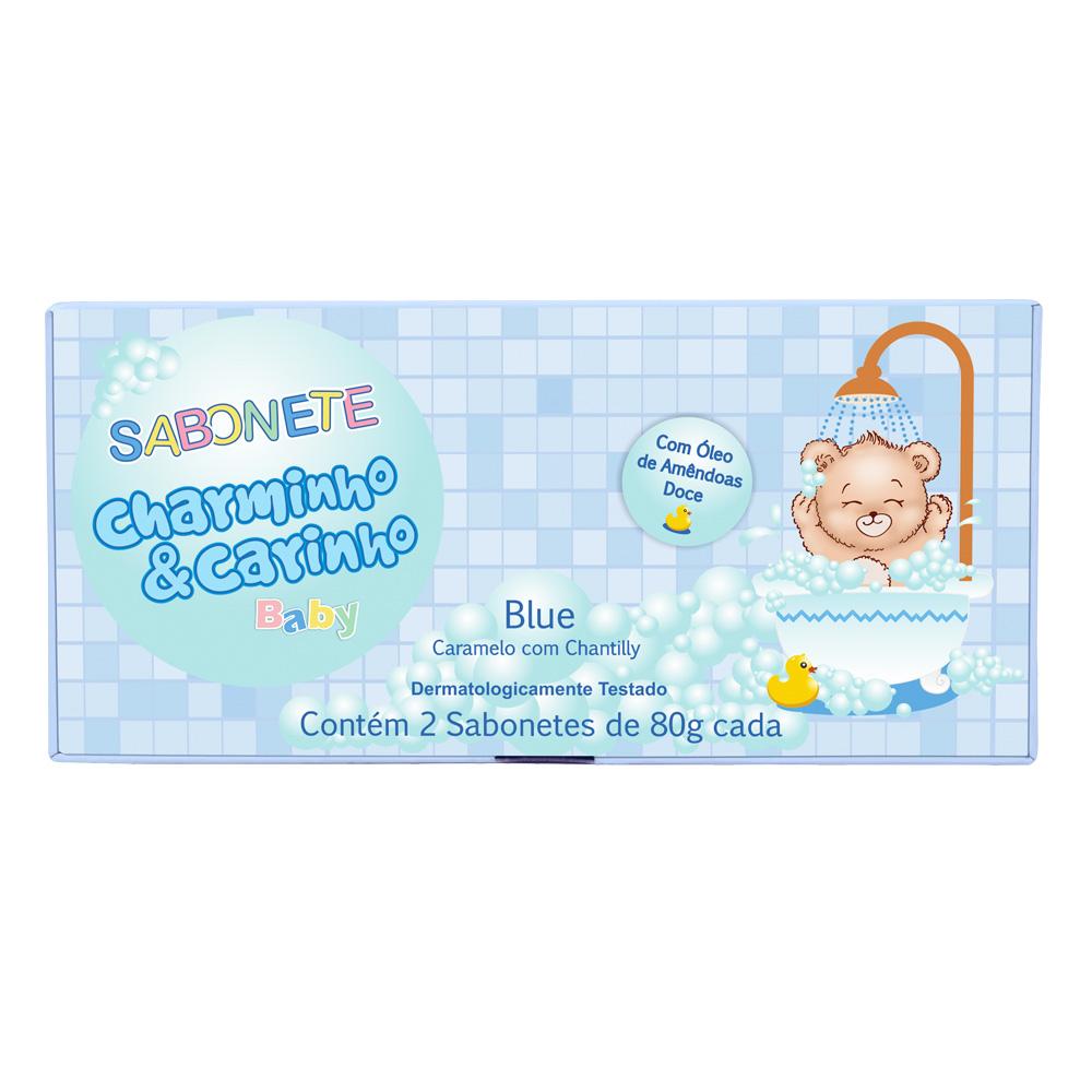 Sabonete Infantil Blue Caramelo com Chantilly Charminho & Carinho Baby - Estojo com 2 unidades