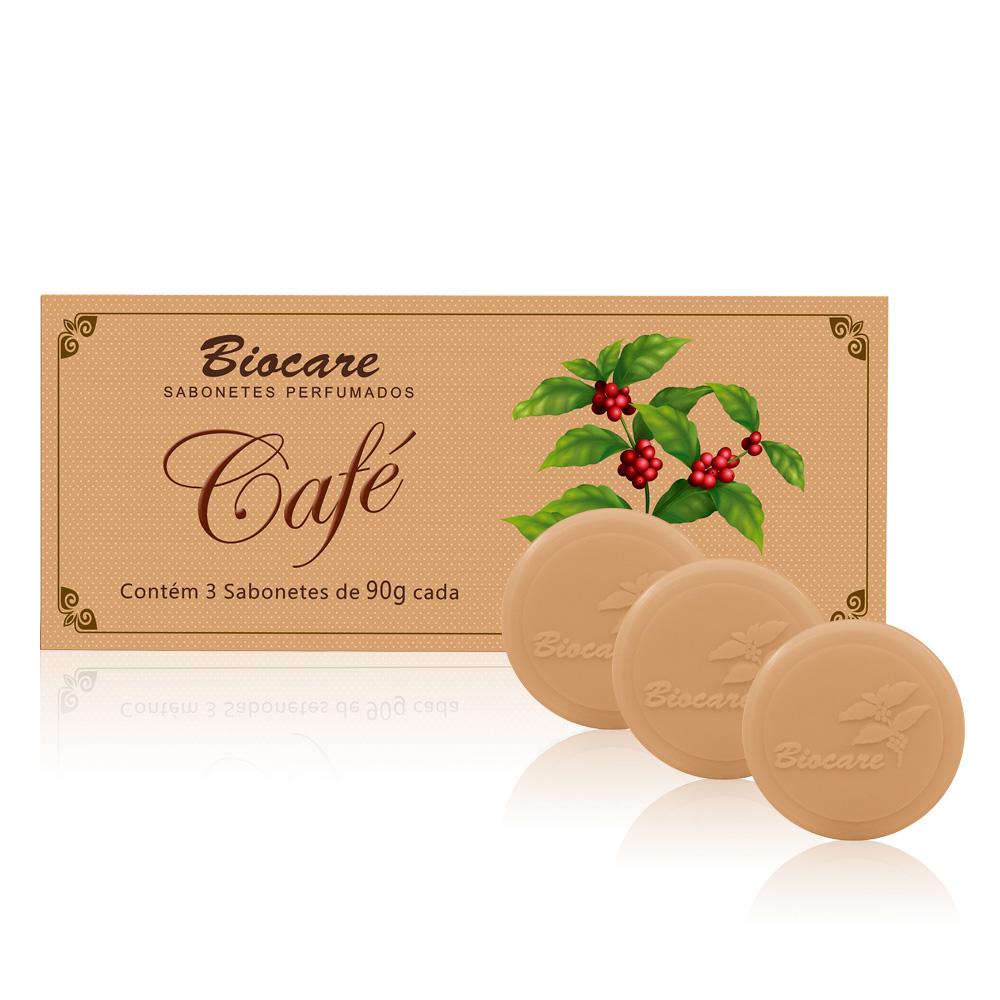 Sabonetes Biocare Café - Estojo com 3 unidades 90g cada