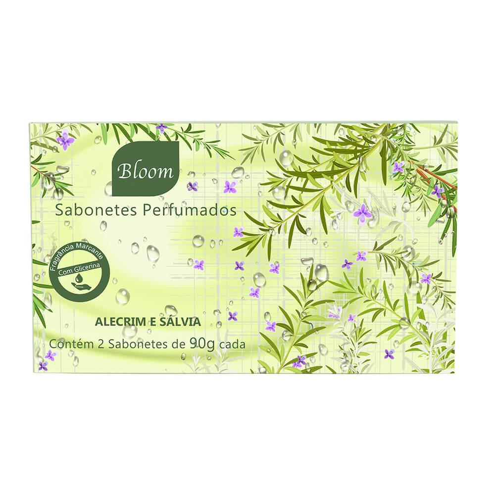 Sabonetes Bloom Alecrim e Sálvia - Estojo com 2 unidades 90g cada