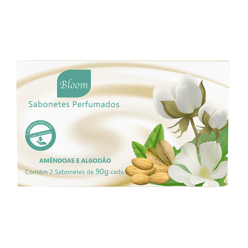 Sabonetes Bloom Amêndoas e Algodão - Estojo com 2 unidades 90g cada