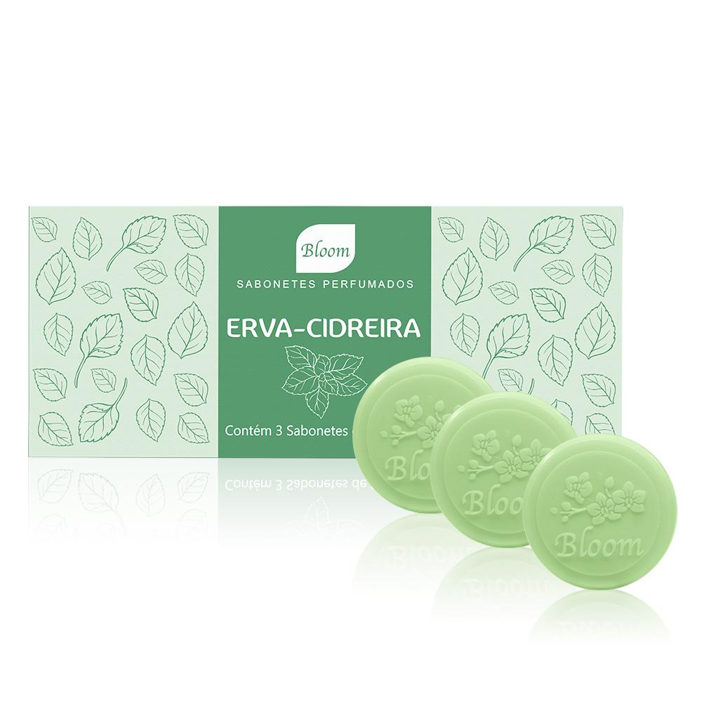 Sabonetes Bloom Erva-Cidreira - Estojo com 3 unidades 90g cada