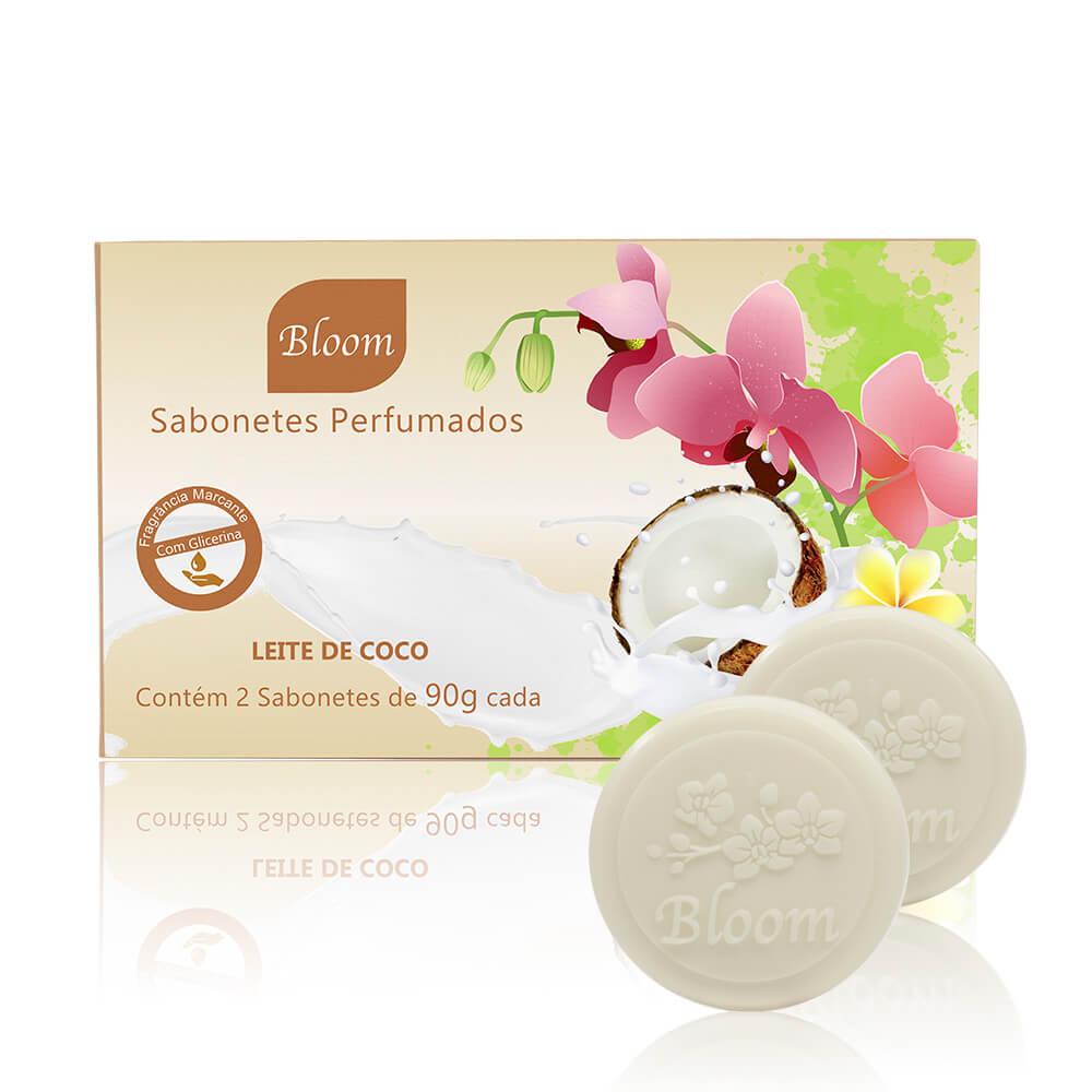 Sabonetes Bloom Leite de Coco - Estojo com 2 unidades 90g cada