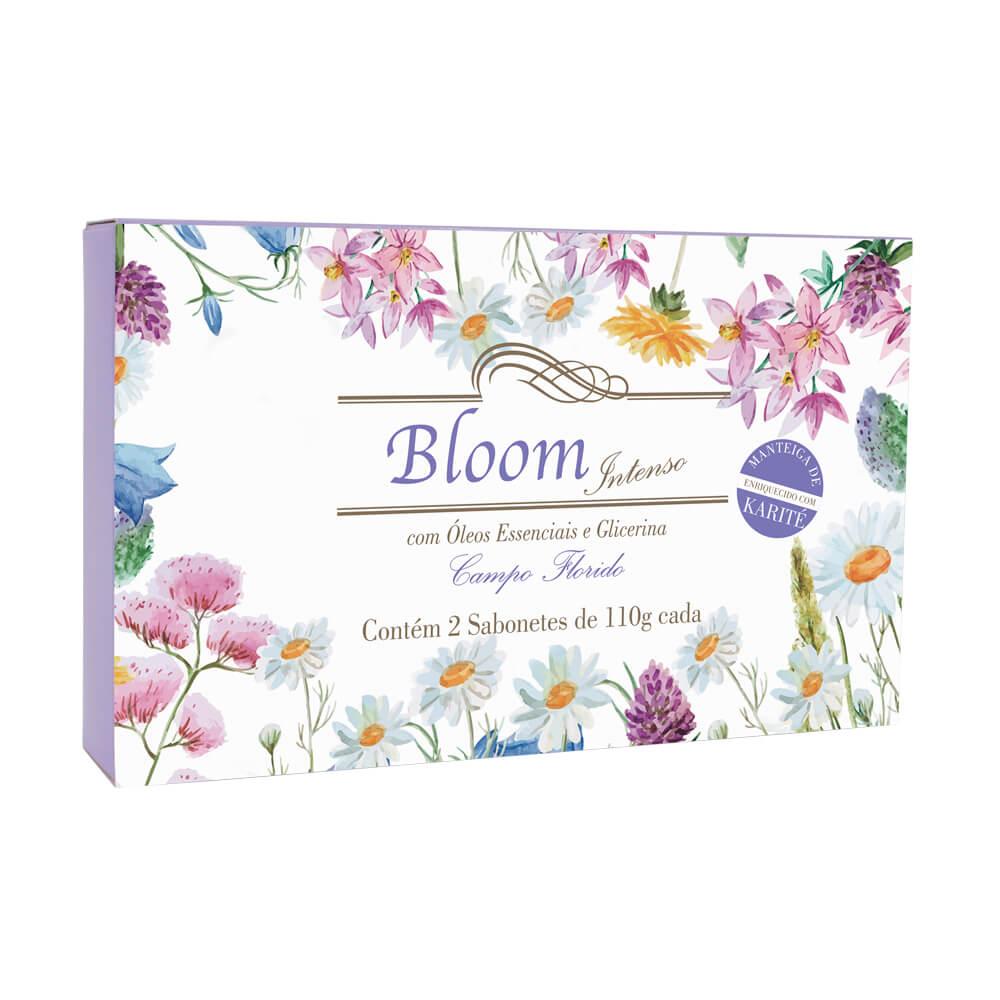 Sabonetes Extra Perfumados Bloom Intenso Campo Florido - Estojo com 2 unidades 110g cada