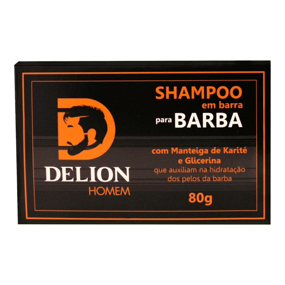 Shampoo em barra para barba Delion Homem 80g